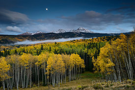 Moon over Aspens | San Juan Mountains, CO