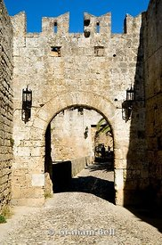 d'amboise gate, rhodes old town, unesco world heritage site, rhodes, dodecanese islands, Greece.