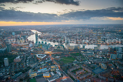 Aerial view of Vauxhall, London