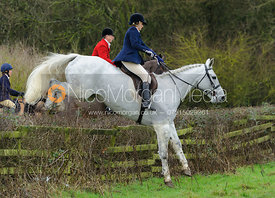 Joanne Rutter jumping a hedge from Town Park Farm