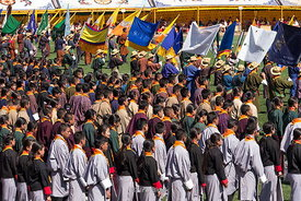 The 33rd birthday celebration of the Buthan King, Jigme Khesar Namgyel Wangchuck at the National Stadium in Thimphu, Bhuatn.