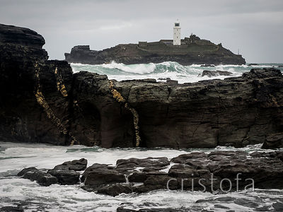 Godrevy lighthouse in west Cornwall
