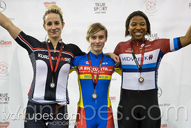 Women Keirin Podium, 2017/2018 Track Ontario Cup #2, Mattamy National Cycling Centre, Milton On, January 14, 2018