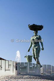 Sculpture of Fish Woman, Puerto De Santiago, Tenerife, Canary Islands, Spain.