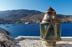Village of Emborio, Chalki Island near Rhodes, Dodecanese Islands, Greece.