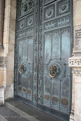Main door to the Sacre Coeur, Paris, France