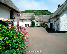 thatched cottages, inner hope, south hams, south devon.