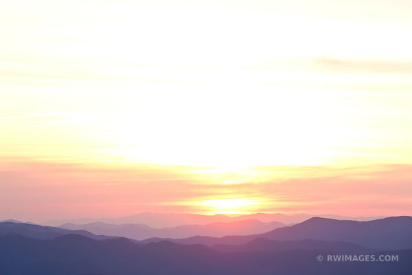 SUNRISE CLINGMANS DOME SMOKY MOUNTAINS RIDGES COLOR