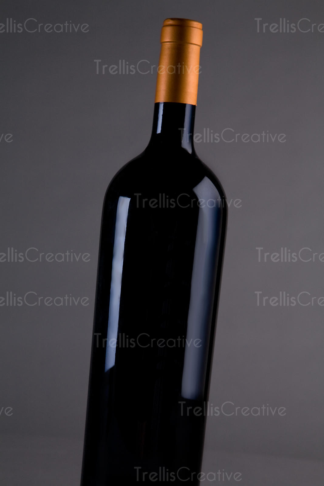 Red Bordeaux wine magnum bottle with no label