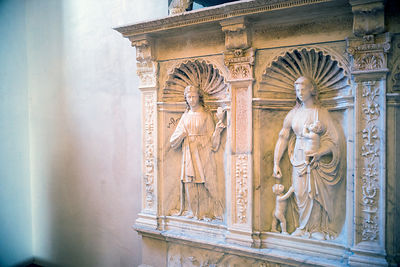 A mediaeval frieze at the Galeria Regionale di Palazzo Bellomo
