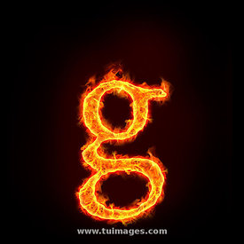 fire alphabets, small letter g