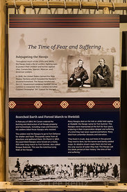 Exhibit about The Long Walk of the Navajo at Hubbell Trading Post