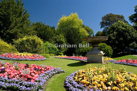Flower beds, Royal Victoria Park, Bath, Somerset, England
