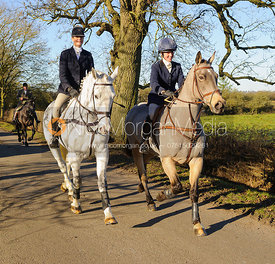 Lisa Freckingham, Charlotte Barnes leaving the meet in Owston