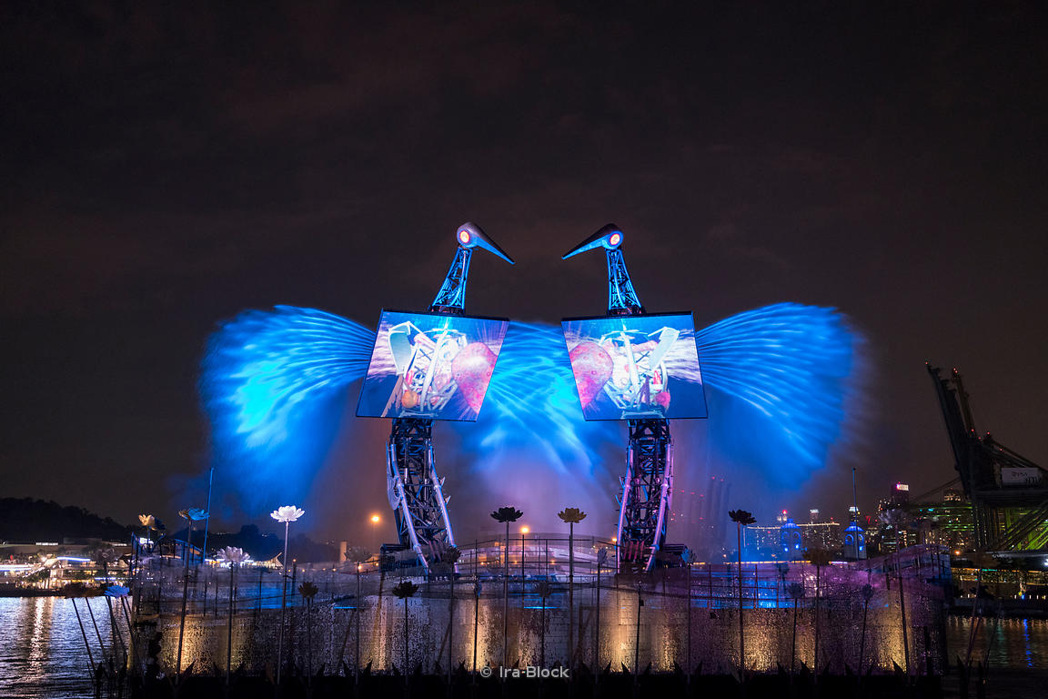 A view of the crane dance at Sentosa gateway in Singapore