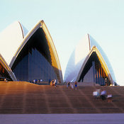 View at Bennelong Point including the Sydney Opera House, Sydney, New South Wales, Australia