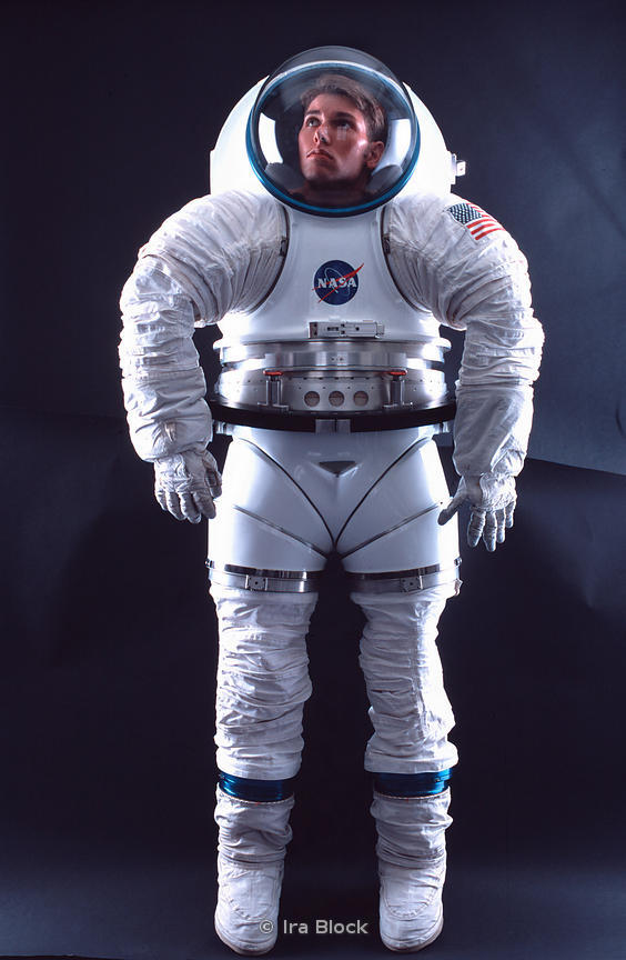 ira block photography space suit design by nasa for long