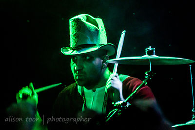Junior, drums, One-Eyed Doll, Orangevale, CA