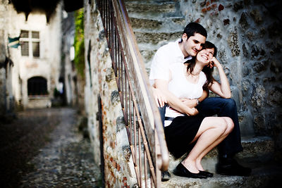 ENGAGEMENT A PEROUGES (AIN) photographes mariage