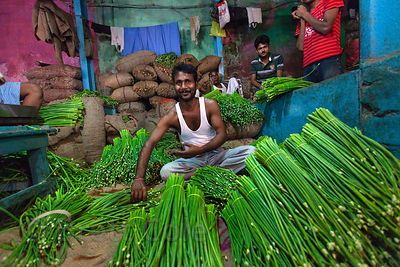 Unidentified Vegetable For Sale At The Kole Wholesale Veg Market In Bowbazar Kolkata India