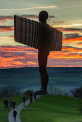 Angel of the North Sunset