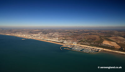 aerial photograph of Brighton East Sussex  England UK