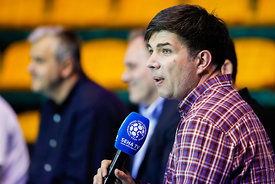 Goran Antevski during the Final Tournament - Final Four - SEHA - Gazprom league, Handball discussion in Brest, Belarus, 06.04.2017, Mandatory Credit ©SEHA/ Uros Hočevar