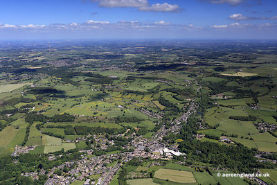 aerial photograph New Mill , West Yorkshire, England UK
