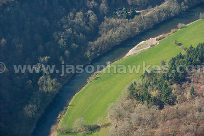 Aerial view of the River Wye, Symonds Yat