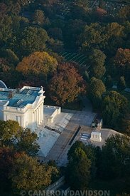 Aerial photograph of  the Tomb Of the Unknown Soldier