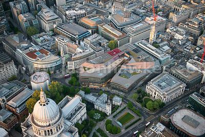 Aerial view of One New Change, London