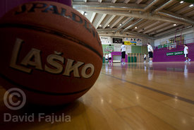 Coaching clinic during the Basketball Camp runned by KZS (Košarkarska zveza Slovenije - Slovene Basketball Federation)