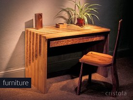 oak, elm and burr elm handmade furniture