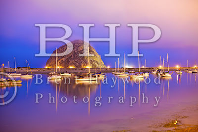 Morro Bay Rock Sunset Photo