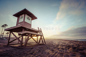 Lifeguard Tower B Newport Beach CA Sunrise Photo