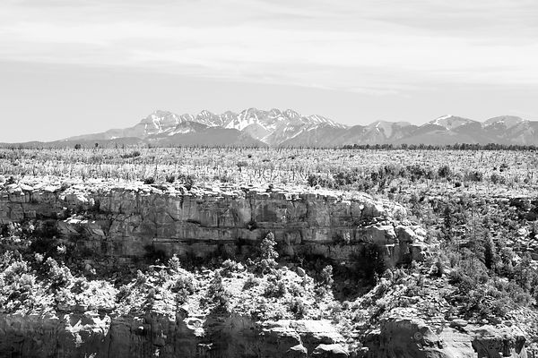 MESA VERDE NATIONAL PARK COLORADO BLACK AND WHITE