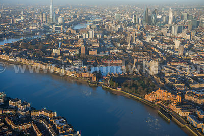 Aerial view of Shadwell and Wapping, London