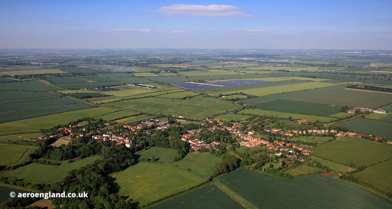 Orston Nottinghamshire aerial photograph