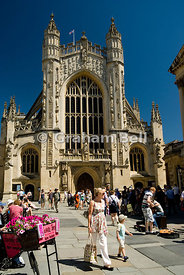 West front of bath abbey somerset england