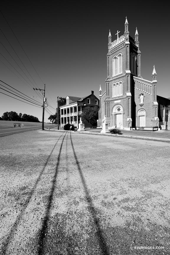 ST. MICHAEL'S CHURCH LOUISIANA BLACK AND WHITE