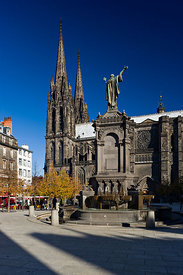 Cathedral and Place de la Victoire, Clermont Ferrand