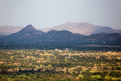 Aravali mountains seen from Nareli Jain temple, Ajmer, Rajasthan, India