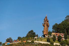 Kailashnath Mahadev Statue, the tallest Shiva Statue.  It is in Sanga, Nepal.