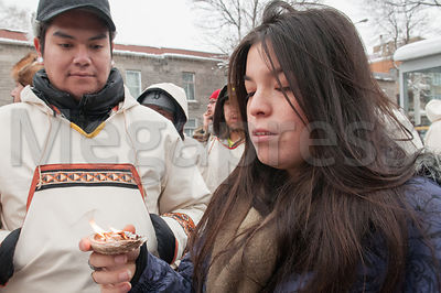 Cree people march against uranium photos