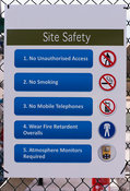 Biogas plant warning signs