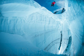 Jumping the crevasse with Fabian Bodet