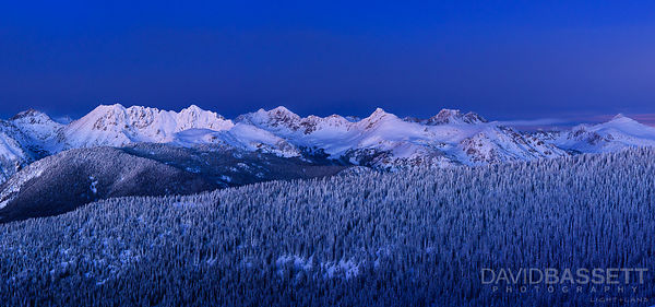 Night Falls Over the Gore Range | Vail, CO