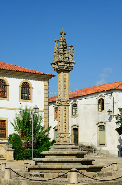 The pillory of Vila Nova de Foz Coa, dating back to the 16th century, symbol of municipal freedom. Alto Douro, Portugal