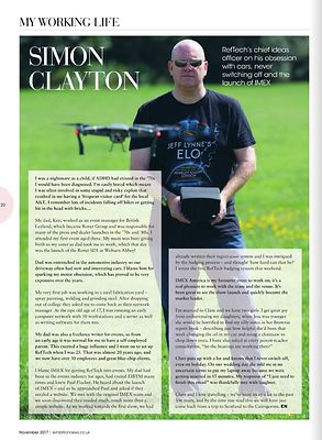 Exhibition News magazine - Simon Clayton - RefTech CIO - November 2017
