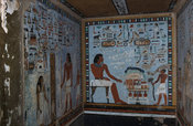 wall painting in tomb of Sirenput II, The Tombs of the Nobles, Aswan, Egypt